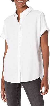 Amazon Brand - Goodthreads Women's Washed Cotton Short-Sleeve Shirt