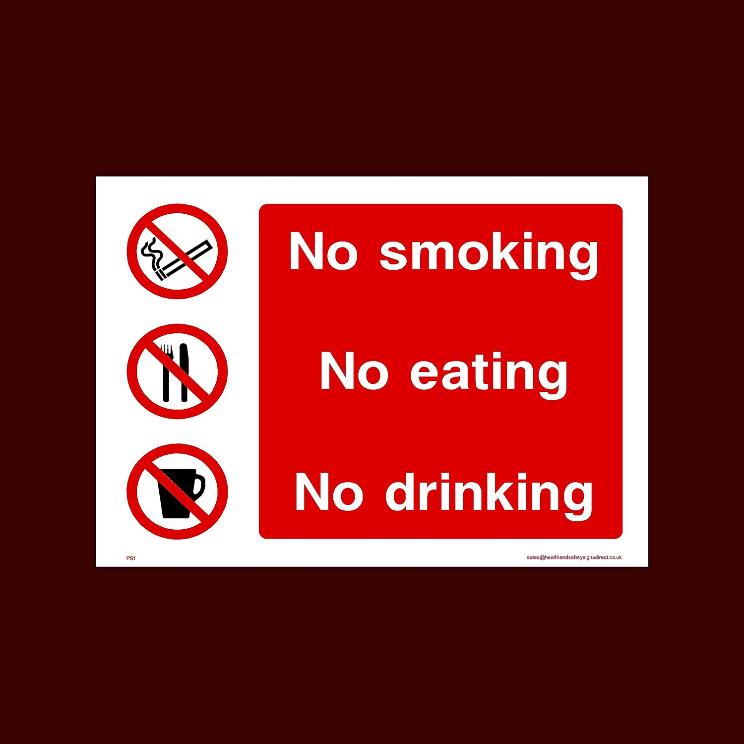 DRINK SIGNS /& STICKERS ALL SIZES ALL MATERIALS PS1 EAT NO SMOKE FREE P+P