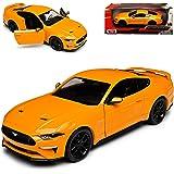 Motormax New Mtm79352bl Ford Mustang Gt 2018 Mattschwarz 1 24 Die Cast Model Spielzeug