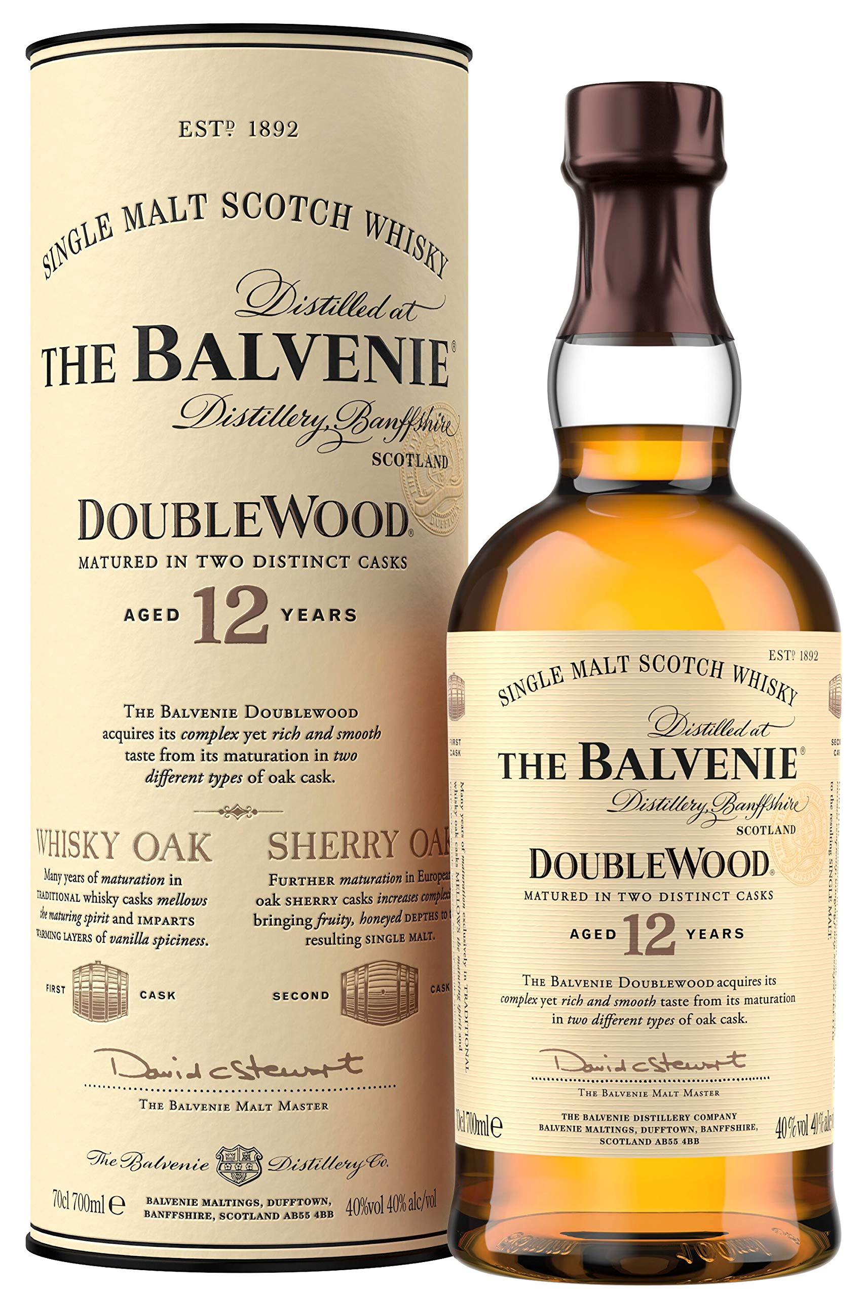 The Balvenie Double Wood 12 Year Old Single Malt Scotch Whisky 70 cl
