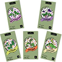 Microgreens Salad Seeds Mix | Green Collection- 5 Seeds Mix Packs | High Germination & Easy to Sprout | Over 16 Vegetable & Herbs incl Pea, Broccoli, Red Cabbage, Radish | Healthy Superfood