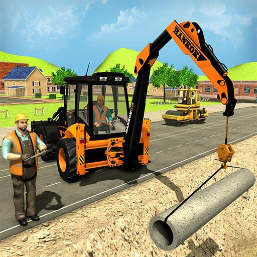 city-road-builder-pipe-line-town-construction-escavatore-simulatore-giochi-di-gru-per-bambini-loader