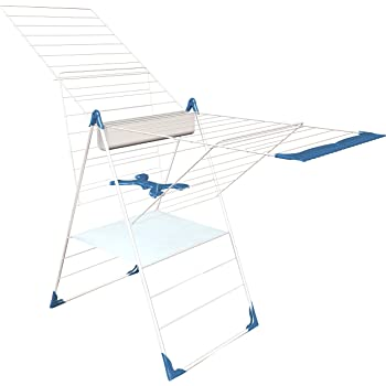 Séchoir à linge HERBY ouverture facile et pratique Semi-Automatique 28 mètres inoxydable, pliable, solide et multiples accessoires