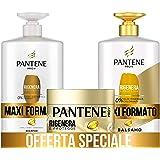 Pantene Pro-V Shampoo Rigenera & Protegge per Capelli Deboli o Danneggiati, Maxi Formato da 1000 ml + Balsamo 900 ml + Masche