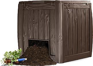 Keter 17196661 Komposter Deco Composter, Holzoptik, Kunststoff, braun, 350 L
