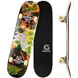 Gonex Completo Skateboard per Principianti, 79 x 20 cm 9 Strati di Acero Double Kick Deck Concavo Skate Board per Bambini Ado