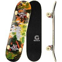 Gonex Completo Skateboard per Principianti, 79 x 20 cm 9 Strati di Acero Double Kick Deck Concavo Skate Board per…