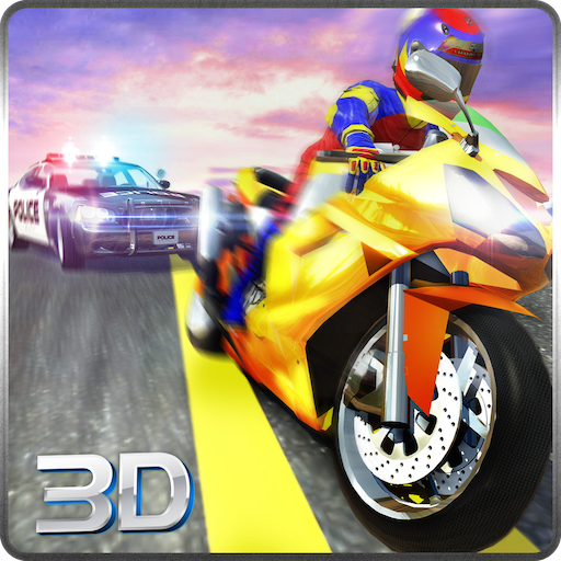 Sports Bike Race Police Chase Simulator 3D: Vegas City Gangster Criminal Escape Adventure Mission Games Free For Kids 2018