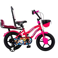 Hi-Fast Kids Bicycle 14T Single Speed Cycle for Boys & Girls with Training Wheels (Semi Assembled,3-5 Years)