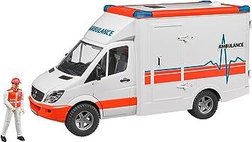 Bruder - Mercedes Benz Sprinter Ambulans Ve Ekibi Ölçekli Model
