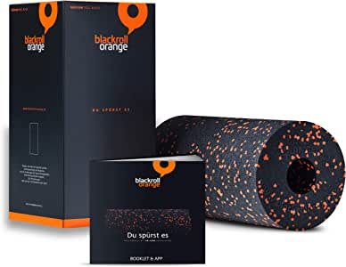 blackroll orange - Selbstmassagerolle - Faszien-Rolle - inkl. Übungsbooklet, Länge 30cm x Durchmesser 15cm