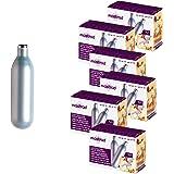 Mastrad F48556 Pack de 50 Cartouches N2O pour siphon-8g + 10 OFFERTES (6 boites), Argenté
