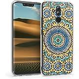 kwmobile Hülle kompatibel mit Huawei Mate 20 Lite - Handyhülle - Handy Case Marokkanische Fliesen rund Blau Orange Türkis