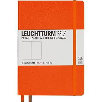 LEUCHTTURM1917 342937 Notizbuch Medium (A5), Hardcover, dotted, orange
