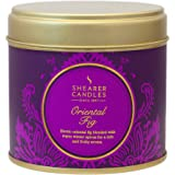 Shearer Candles Oriental Fig Large Scented Gold Tin Candle- Purple