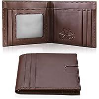 VBIGER Portafoglio Uomo Pelle RFID Blocking Wallet con Tasca Portamonete &10 Slots per Schede & Custodia per Carte…