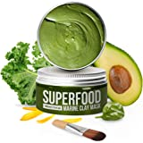 Maschera Viso Purificante e Idratante 100% VEGAN - Maschera all' Argilla Del Mar Morto Con Superfoods 120 ml - Face Mask Scru