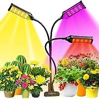 Pflanzenlampe, LED Grow Lampe 153 LEDs Pflanzenlicht Vollesspektrum Pflanzen Wachstumslampe mit 3 Köpfe, 7 Farbmodi…