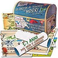 Caccia al tesoro dei mostri in scatola per casa o giardino o casa/giardino 5-7 anni - per feste di compleanno - giochi…
