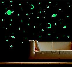 Decor Kafe Pack Of 2 Marsway Creative Stars Night Glow Sticker Night Luminous Glow In The Dark