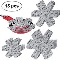 flintronic Separatori Pentole   Proteggi Pentole e Salvapadelle   Set 15 Pezzi  3 Misure  38 35 5 26CM    Perfetti per Pentole e Padelle Antiaderenti in Acciaio Inox  Ghisa  Ceramica  Grigio