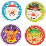 Baker Ross Balles rebondissantes à Paillettes Amis festifs (Paquet de 8) - Loisirs créatifs de Noël pour Enfants AT344