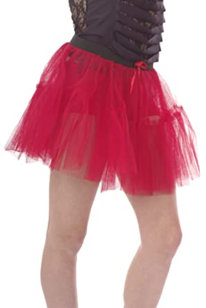 Neon Tutu Skirt 14 Inches Long 2 Tiered Size 8 To 20 Red Amazoncouk Clothing