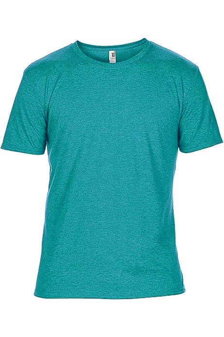 Anvil - Camiseta básica ligera de manga corta Modelo Tri-Blend Hombre/Caballero (XS/Azul caribean): Amazon.es: Ropa y accesorios