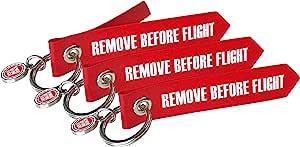 Remove Before Flight Mini Originals 3 Stück Original Luftfahrtmaterial Koffer Rucksäcke Taschen