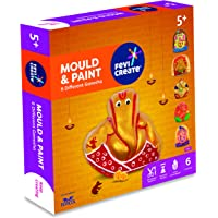 Pidilite Fevicreate DIY Mould & Paint Ganesha Kit with 6 Unique Designs