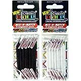 U-Lace - Pack de 2 sachets lacets élastiques autobloquant de 7 à 77 ans Adultes Enfants
