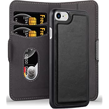Fesselnd ... 7S / IPhone 8   Hülle In KOHLEN SCHWARZ U2013 Handyhülle Im 2 In 1 Design  Mit Standfunktion Und Kartenfach   Hard Case Book Etui Schutzhülle Tasche  Cover