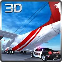 Transporteur de voiture de police avion et simulateur de camion de fret 3D: voitures de police furieuses et rapides de transport dans le jeu de simulation de vol de l'avion 2018