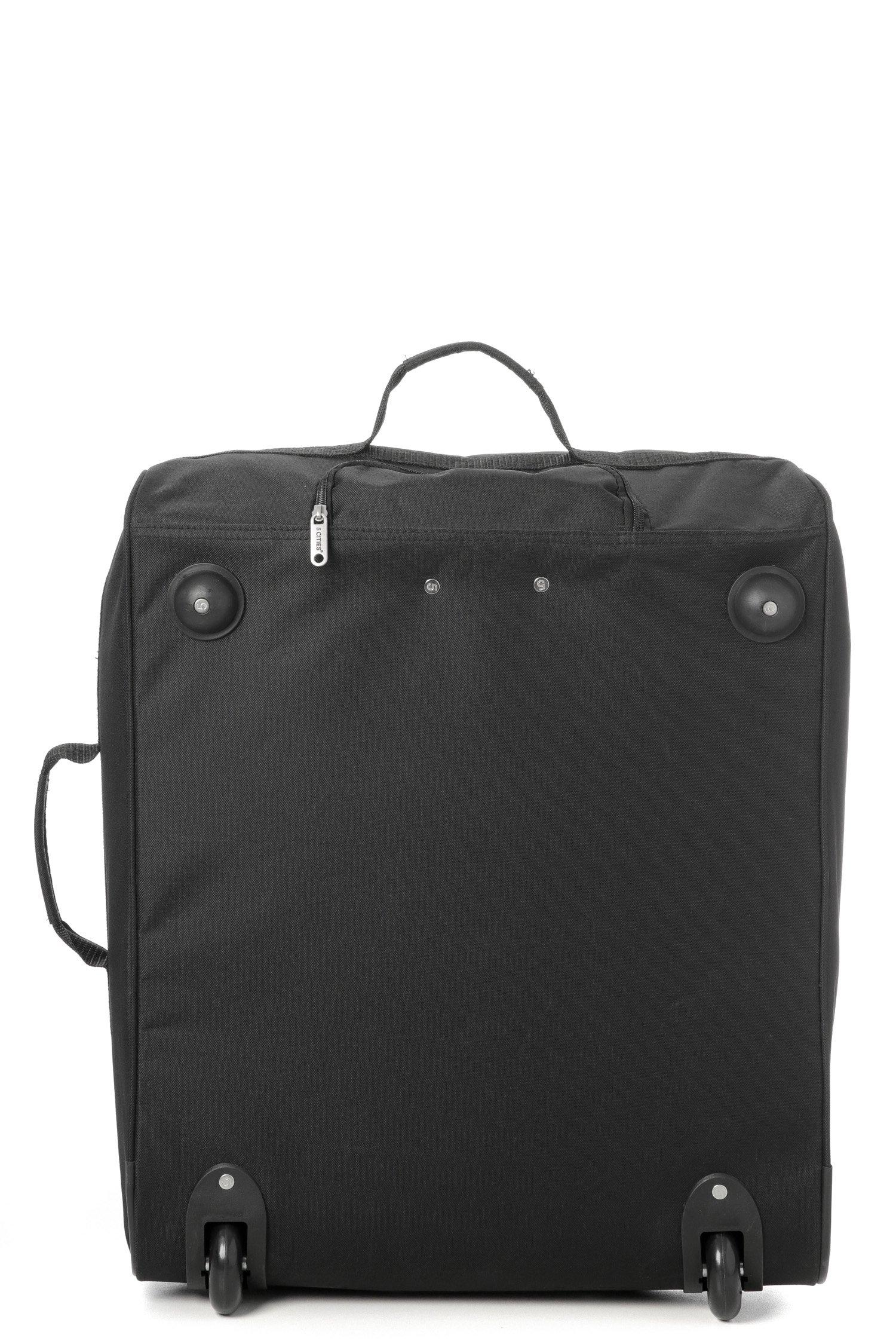 811vvpWRt6L - Easyjet e British Airways 56x45x25cm bagaglio a Mano massima approvato Trolley, 60L Capacità,(2X Negro)