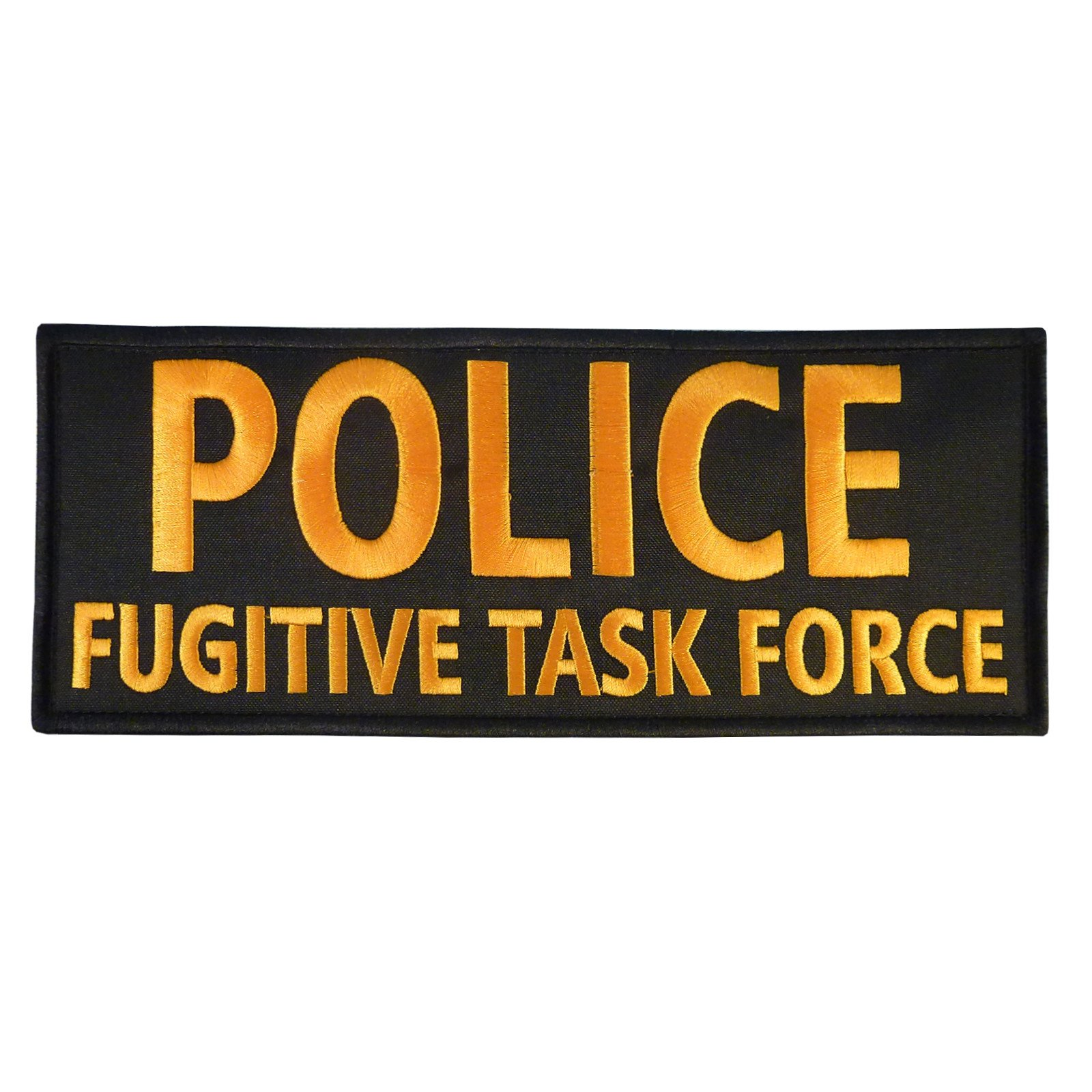 POLICE FUGITIVE TASK FORCE Large XL 10x4 inch SWAT Ricamata Ricamo Fastener Toppa Patch