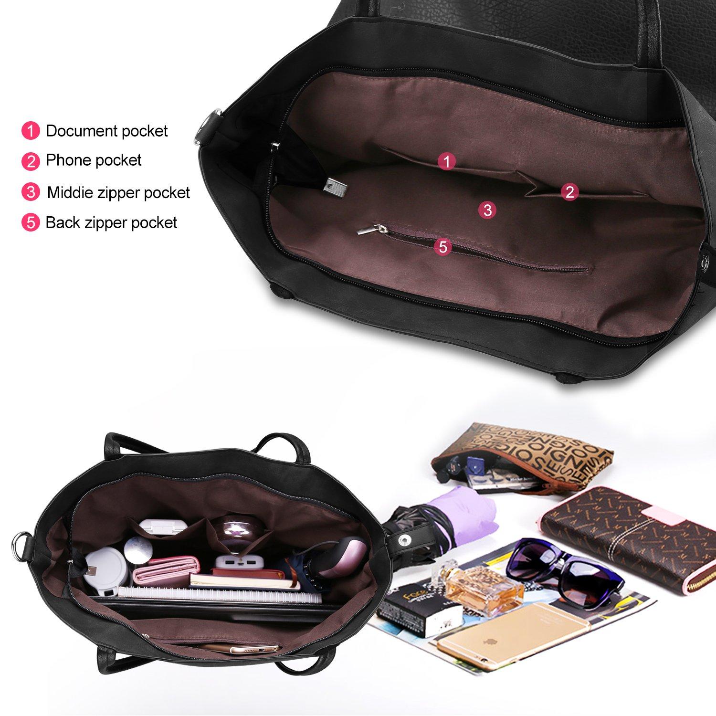 c1b3a53b43e Proking Women Handbags Ladies Fashion Shopping Bag Tote Bags for Women Top  Handle Bags Soft PU ...