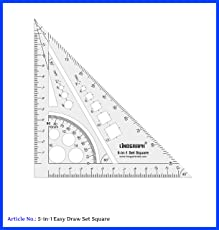 LINOGRAPH Set Square 5 in 1