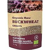 LOOV Ekologiska Bovetegryn Glutenfria, 1 kg, Råa, inte Värmebehandlade, Alla Näringsämnen Bevaras, Utsökt Nötig Smak, Bra för