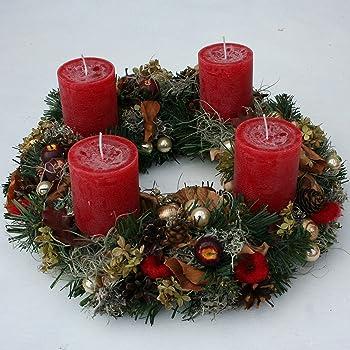 Adventskranz Weihnachtsglanz, 30 cm im Durchmesser,mit