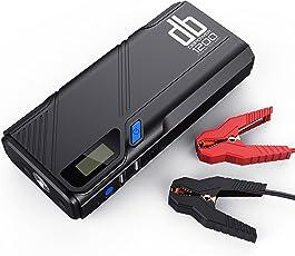db DBPOWER 1200A Tragbare Auto Starthilfe Power Pack Jump Starter, Autobatterie Anlasser und Ladegerät, Externes Akku-Ladegerät mit QC3.0 Ausgang und LED Notfalllicht - Super Leicht und Kompakt - Ultimativer Schutz