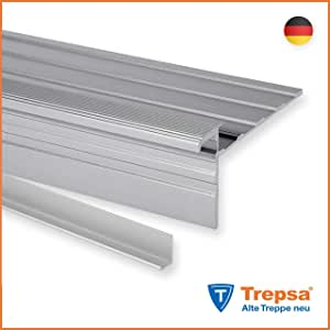 Aluminium eloxiert Trepsa Treppenkantenprofil Trepsa Profil 5 800 mm Farbe Gold