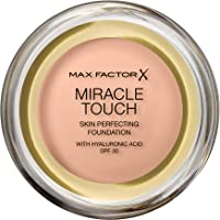 Max Factor Miracle Touch Foundation in der Farbe 35 Pearl Beige – Intensives, pudriges Make-up für ein makelloses…
