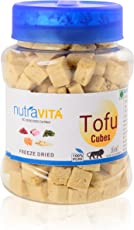 Nutra Vita frozen Dried fine Tofu Cubes (SOYA Paneer) 75g, Packed in Food Grade Reusable PET Bottle