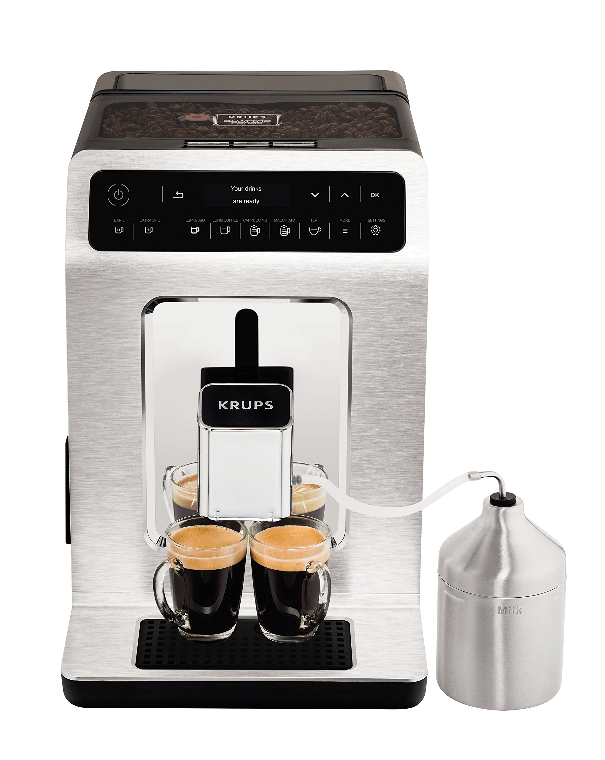 Krups-Kaffeevollautomat-Evidence-One-Touch-Cappuccino-OLED-Bedienfeld-mit-Touchcreen-21-L