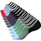 Ueither Calzini Fantasmini da Uomo, Sneaker Calze Invisibili in Cotone, Calze Corti Traspirante Sportive con taglio basso, An