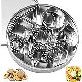 ZITFRI 24 Pcs Mini Emporte Piece Patisserie Jeu de Dinette pour Enfant Emporte-pièces Cuisine pour Minis Sablés Biscuits Cook