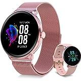 【Versión Mejorada】 Bebinca Smartwatch Reloj Inteligente,Monitor de frecuencia cardíaca automático7/24,Clima, oxígeno en Sangr