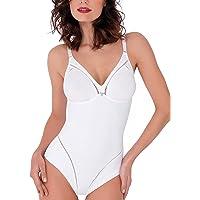 Lady Bella P6738 Body Donna Contenitivo Modellante - Shapewear Senza Ferretto in Coppe C e D Preformate, Non Imbottite e…