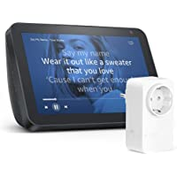Echo Show 8 - Tessuto antracite + Amazon Smart Plug (presa intelligente con connettività Wi-Fi), compatibile con Alexa