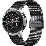 MUENShop 20mm Sgancio Rapido Cinturino Compatibile con Samsung Galaxy Watch, Huawei Watch,Cinturini in Acciaio Inossidabile d
